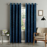 Flamingo P Printed Pair(2 Panels) Soft Microfiber Room Darkening Thermal Insulated & Heating Grommet Top Blackout Navy Stars kids Curtains/Drapers 84 by 52 inch