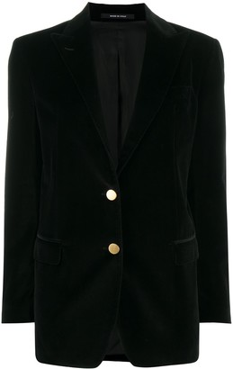 Tagliatore Single-Breasted Velvet Blazer