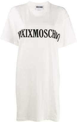 Moschino embroidered logo T-shirt dress