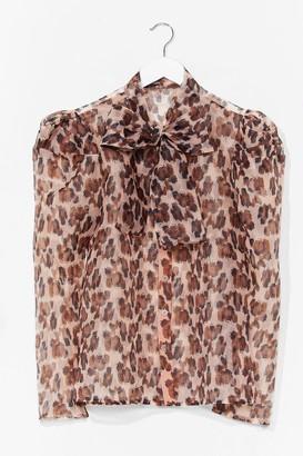 Nasty Gal Womens Animal Print Blouse - Brown