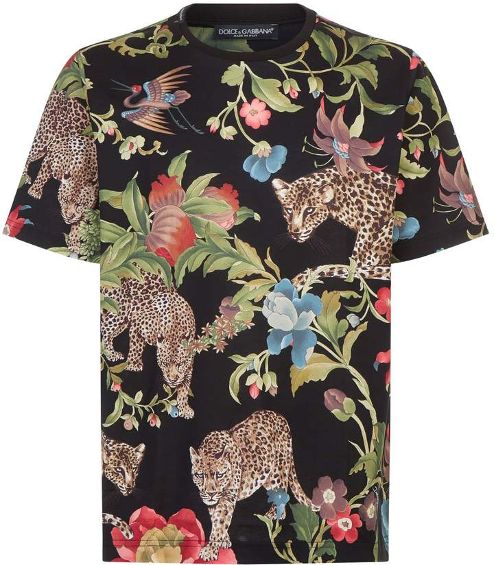 Dolce & Gabbana Jungle Leopard T-Shirt