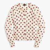 J.Crew Jackie cardigan sweater in sequin polka dot