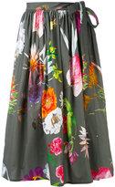 Blumarine floral print skirt - women - Cotton/Spandex/Elastane - 38