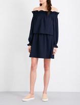 Diane von Furstenberg Georgie off-the-shoulder stretch-crepe mini dress