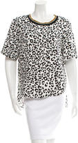 Barbara Bui Snow Leopard Print Top w/ Tags