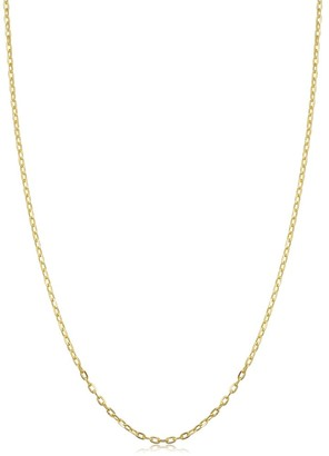 Fremada 14k Yellow Gold 1 millimeter Cable Chain Necklace
