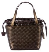 Stephane Kelian Embossed Leather Mini Handle Tote