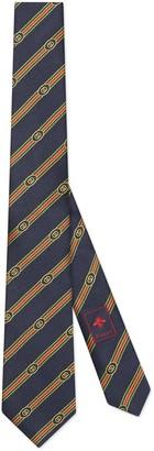 Gucci Interlocking G Web silk jacquard tie