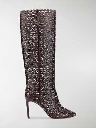 Alaia Knee High Studded Boots