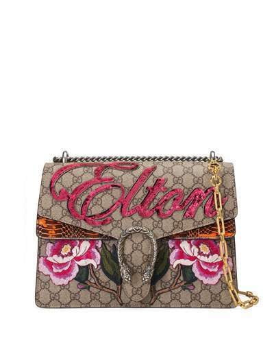Gucci Dionysus Medium Elton Shoulder Bag, Neutral/Multi