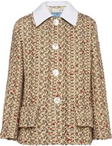 Prada collared tweed jacket