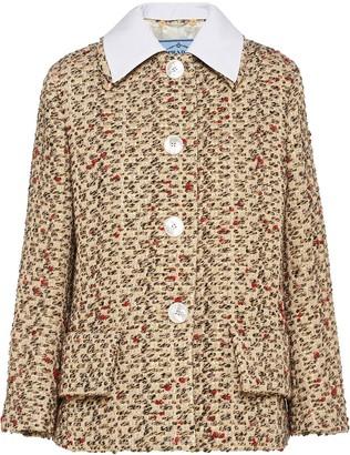 Prada collared tweed jacket