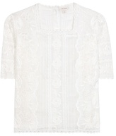 Marc Jacobs Embroidered Cotton Blouse