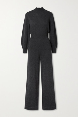 Theory Wool-blend Jumpsuit - Charcoal