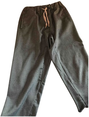 Vicolo Grey Trousers for Women