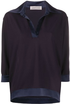 Lamberto Losani Contrast Panel Polo Top
