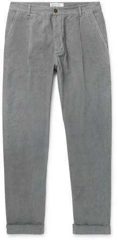 Universal Works Tapered Pleated Cotton-Corduroy Trousers