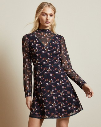 Ted Baker Geo High Neck Dress