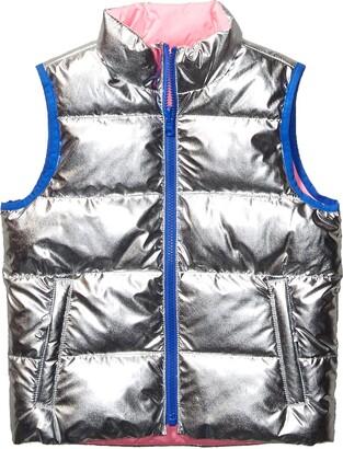 Spotted Zebra Reversible Puffer Vest Down Alternative Jacket