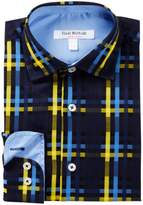 Isaac Mizrahi Multi Check Plaid Button Shirt (Little Boys & Big Boys)
