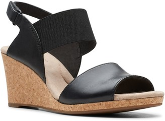Clarks Collection Leather Wedge Sandals - Lafley Lily