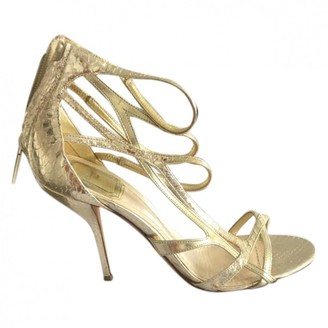 Christian Dior Gold Leather Sandals