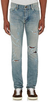 Saint Laurent Men's Original Low-Rise Skinny Jeans-LIGHT BLUE