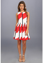 Vince Camuto S/L Abstractions Pleat Dress