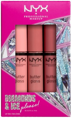 NYX Diamonds & Ice Please! Butter Gloss Trio