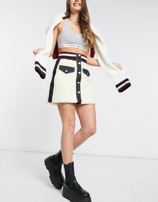 Tommy Hilfiger Collections winter denim skirt in black