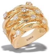 Effy Jewelry Effy D'Oro 14K Yellow Gold Diamond Ring, 0.98 TCW