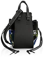 Loewe Women's Mini Hammock Drawstring Floral-Print Leather Bag