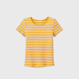 Cat & Jack Girls' Short Sleeve Striped Rib-Knit T-Shirt - Cat & JackTM