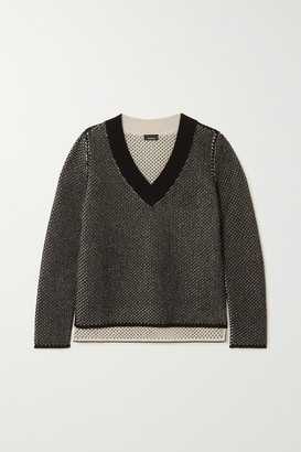 Akris Cashmere And Cotton-blend Sweater - Black