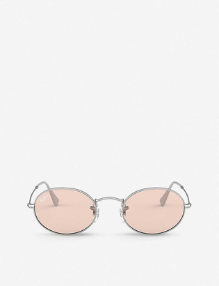 Ray-Ban RB3547 metal glass oval-frame sunglasses