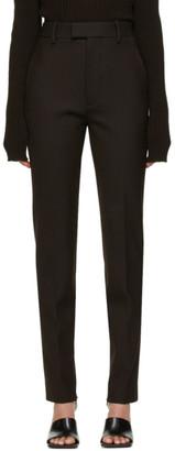 Bottega Veneta Brown Wool Slim-Fit Trousers