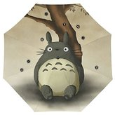 Anime My Neighbor Totoro Custom Auto Foldable Rain Umbrella Wind Resistant Windproof Floding Travel Umbrella