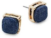 Expression Denim Square Stud Earrings