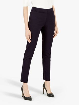 Jaeger Ponte Tailored Linen Ankle Trousers