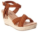 Minnetonka Women's Naomi Suede Wedge Sandal.