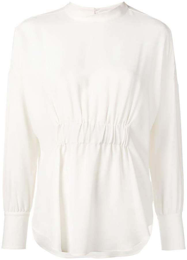 Glanshirt ruched blouse
