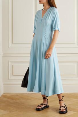 3.1 Phillip Lim - Pleated Crepe Midi Dress - Blue