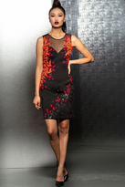 Jovani Short Dress with Multi-Colored Pattern M103