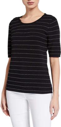 Calvin Klein Short-Sleeve Sweater W Contrast Stitching
