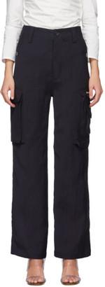 Maryam Nassir Zadeh Black Wide-Leg Summit Trousers