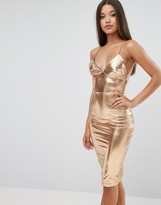 Club L Metallic Midi Dress