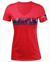5th & Ocean Women's New England Patriots Touchback LE T-Shirt