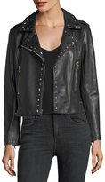 Parker Easton Long-Sleeve Zip-Front Leather Moto Jacket