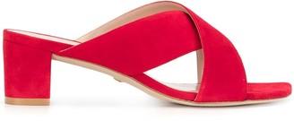 Stuart Weitzman Crossover Strap Sandals