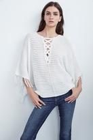 Ashlie Crochet Knit Fringe Sleeve Sweater